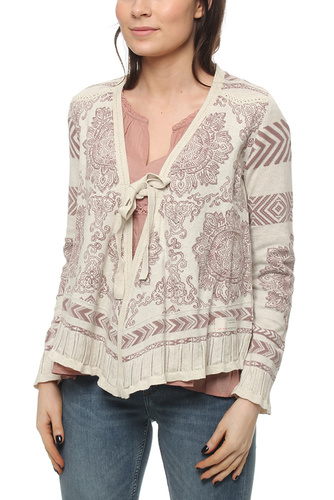 BUZZARD CARDIGAN SOFT EARTH
