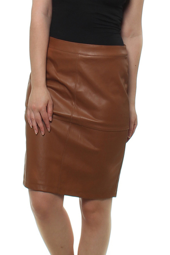 Vila VIPEN NEW SKIRT OAK BROWN