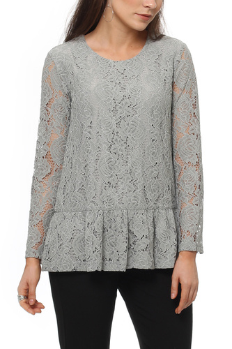 Dry Lake MIST BLOUSE GREY LACE