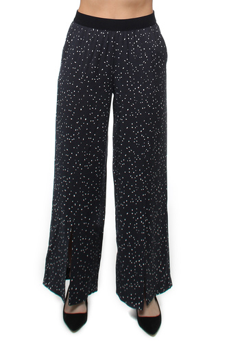 House of Dagmar GABY TROUSERS NAVY DOT PRINT