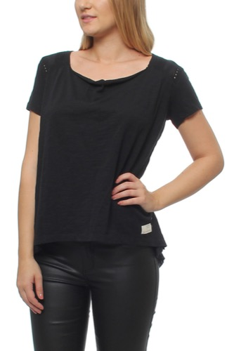 Hang Loose S/s Top Almost Black