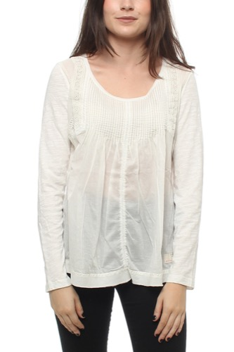 Odd Molly HANG LOOSE L/S TOP LIGHT CHALK