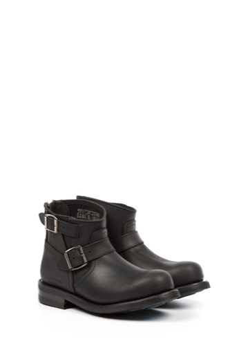 Primeboots ENGINEER ZIP LOW-103 OLD CRAZY BLACK