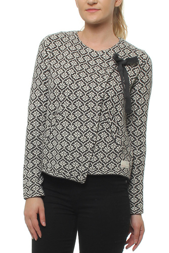 Knitted Wing Cardigan Almost Black