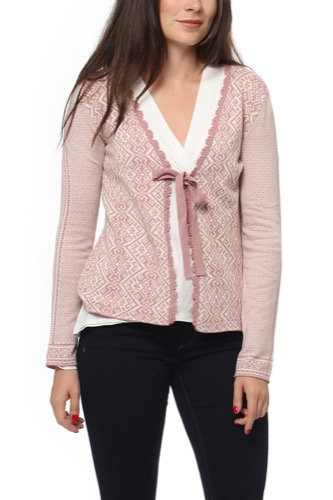 Odd Molly BUZZARD CARDIGAN PINK POWDER