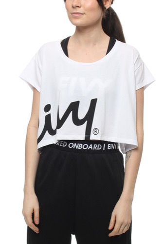 Cropped Boxy Tee White