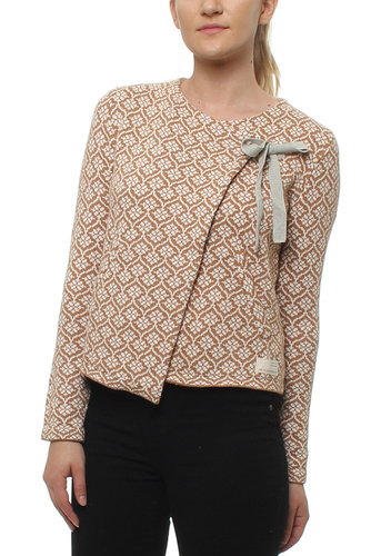 KNITTED WING CARDIGAN CAMEL