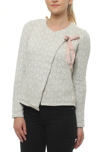 Knitted Wing Cardigan Light Grey Mel