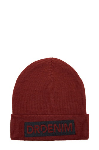 Dr. Denim Bo Beanie Blood Red
