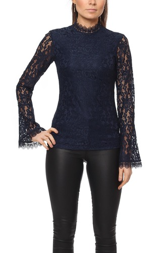 Dry Lake Laura Blouse Navy