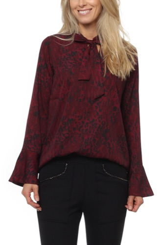 Dry Lake BLEAK BLOUSE RED LEO PRINT
