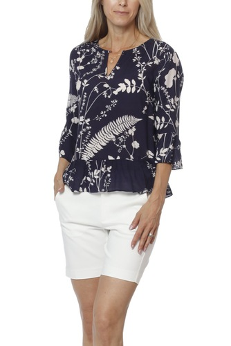 InWear Roisin Blouse Lw Botanicals Midnight