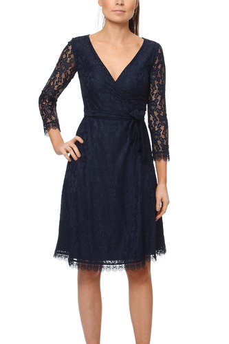 Dry Lake JONI WRAP DRESS NAVY