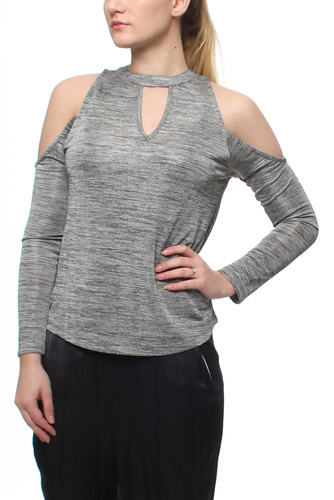 NORA OFF SHOULDER TOP SILVER