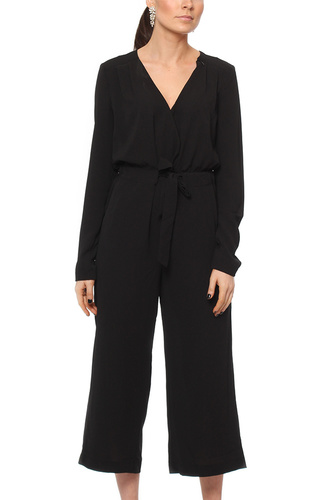 Vila VIALINEA NEW L/S JUMPSUIT BLACK