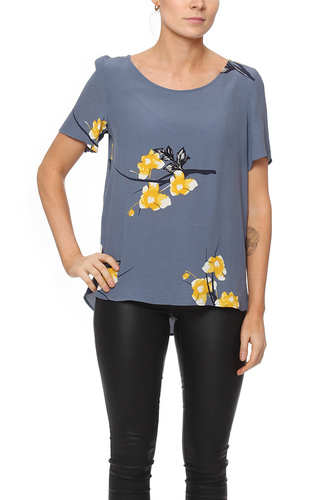Vila VINALINA S/S TOP GRISAILLE