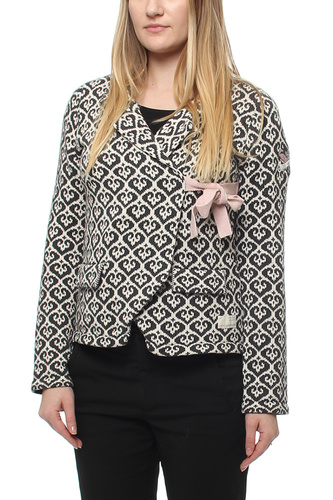 LOVLEY KNIT JACKET ALMOST BLACK 2