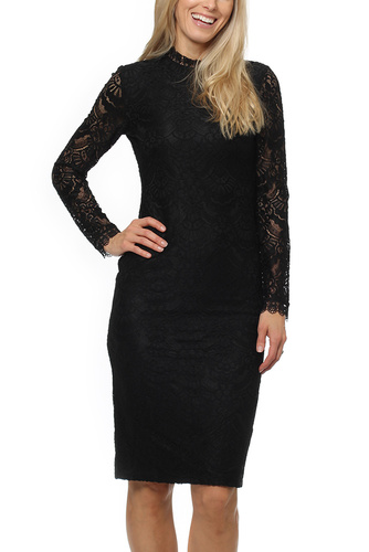 Dry Lake DRAGON MID LACE DRESS BLACK