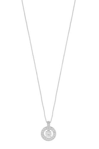 Snö of Sweden ELAINE PENDANT NECK 42 SILVER/CLEAR