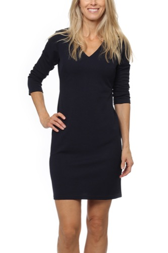 Dry Lake GHOST SLEEVE DRESS NAVY