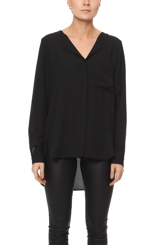 Selected Femme Sfdynella Ls Shirt Black