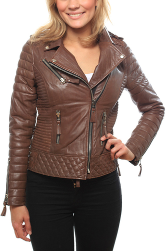 Kay Michaels Quilted Bike Creased Brown