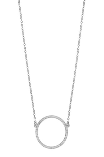 Snö of Sweden TRUDY CHAIN NECK 45CM SILVER/CLEAR