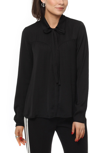 Vila VIMELLI BOW SHIRT BLACK