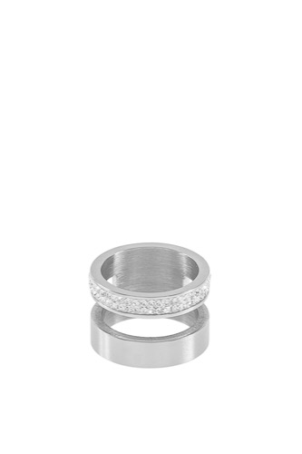 Snö of Sweden Max Stacy Ring L Silver/clear