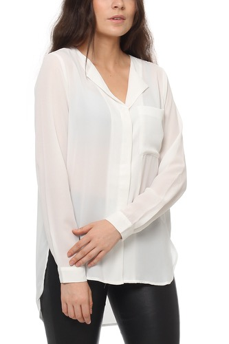 Selected Femme SFDYNELLA LS SHIRT SNOW WHITE