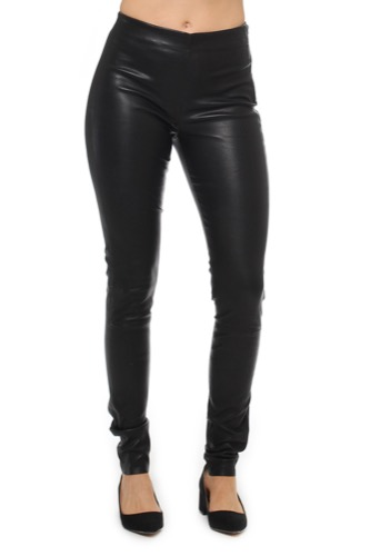 Selected Femme SFSYLVIA STRETCH LEATHER BLACK