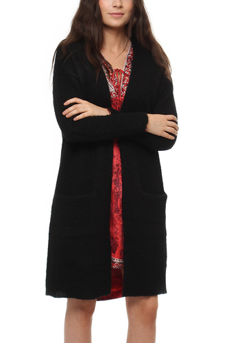 Selected Femme SFLIVANA LS KNIT CARDIGAN BLACK