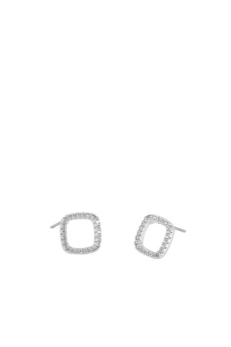 Snö of Sweden Lou Square Ring Ear S/clear