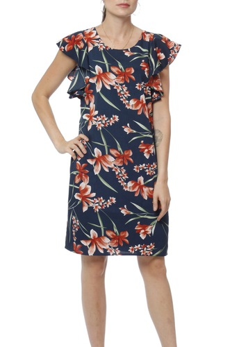 Dry Lake Madison Dress Petal Print