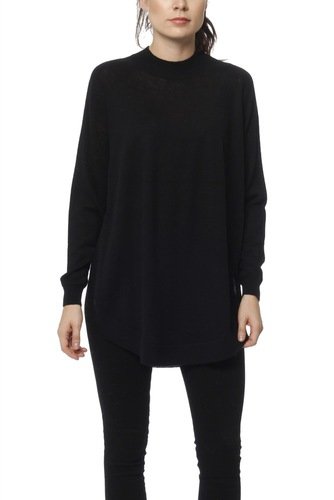 Selected Femme Slfeileen Ls Knit Highnec Black