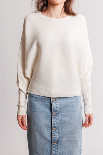 Vila Vielasta L/s Knit Top Cloud Dancer
