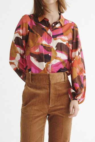 InWear Poppy Shirt Pink Watercolour