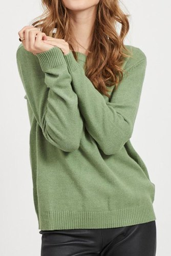Vila Viril L/s O-neck Knit Top Loden Frost