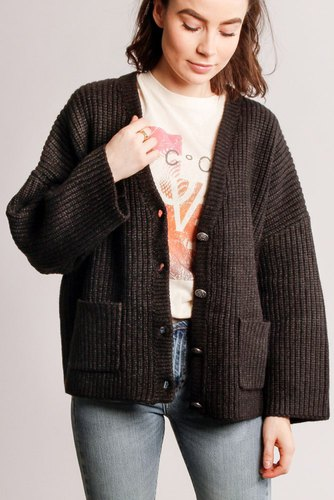 CO'COUTURE Row Cardigan Black