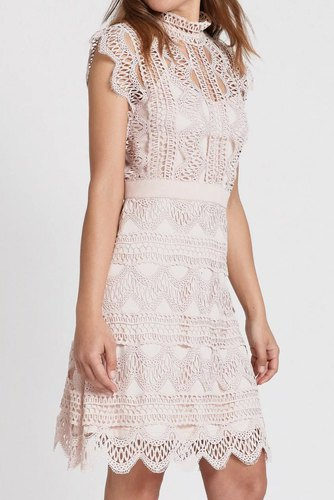 Dry Lake Ira Dress Pink Crochet
