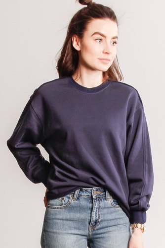 CO'COUTURE Reverse Sweat Navy