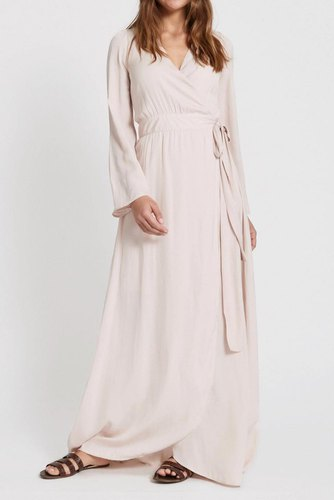 Dry Lake Robyn Long Dress Pink Pale