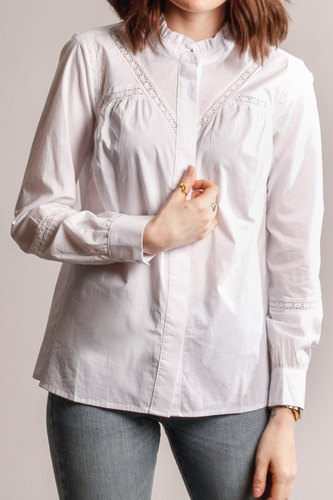 CO'COUTURE Silla Lace Blouse White