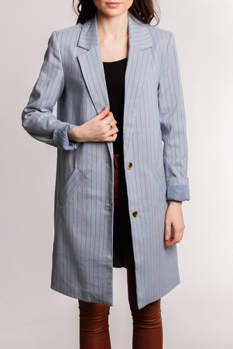 Vila Vizama Coat Ashley Blue