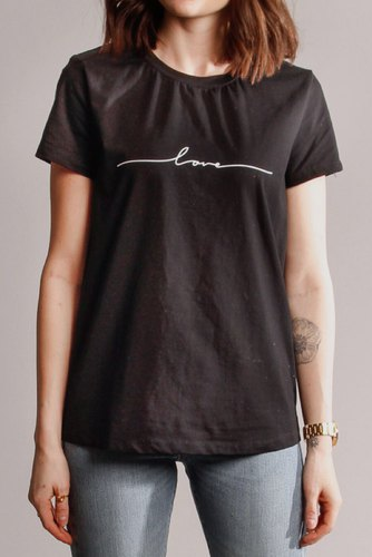 CO'COUTURE Naya Love Tee Black