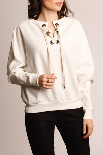 Vila Visoap L/s Top Cloud Dancer