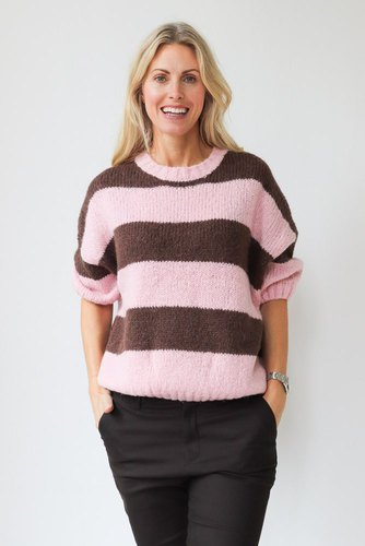 CO'COUTURE Fernanda Stripe Knit Mocca