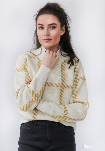 Vila Viluxana Knit Ls Top Whisper White