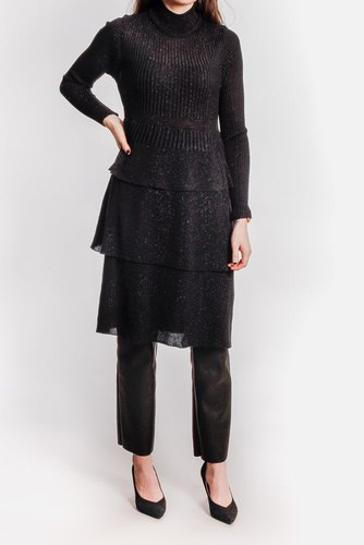 YAS Yaslilah Ls Knit Dress Black