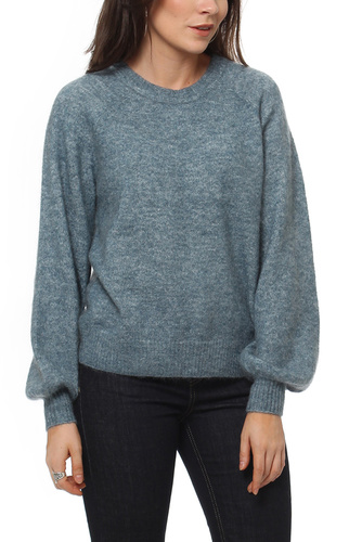Selected Femme SFKAILA LS KNIT TEE ORION BLUE MEL